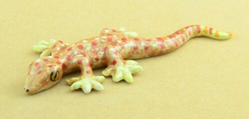 Escala 1:12 de cerámica Gecko Lagarto tumdee Decoración De Jardín Casa De Muñecas Accesorio C