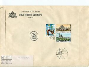 1982 Fdc San Marino Philexfrance 800° S.francesco Raccomandata First Day Cover Lustre Brillant