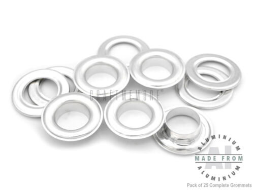 Large Size Aluminium Grommets Eyelets with Washers for Cloth Leather Canvas