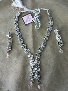 Details about Pink Indian Victorian Jewelry Set