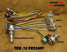 TONE MONSTER SBK-3A Guitar Bass Preamp 3B EQ + Mid Sweep 5 Pots +/-12dB 9-18V