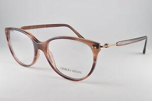 a1c609029f2 Image is loading Giorgio-Armani-Eyeglasses-AR-7023-5180-Striped-Brown-