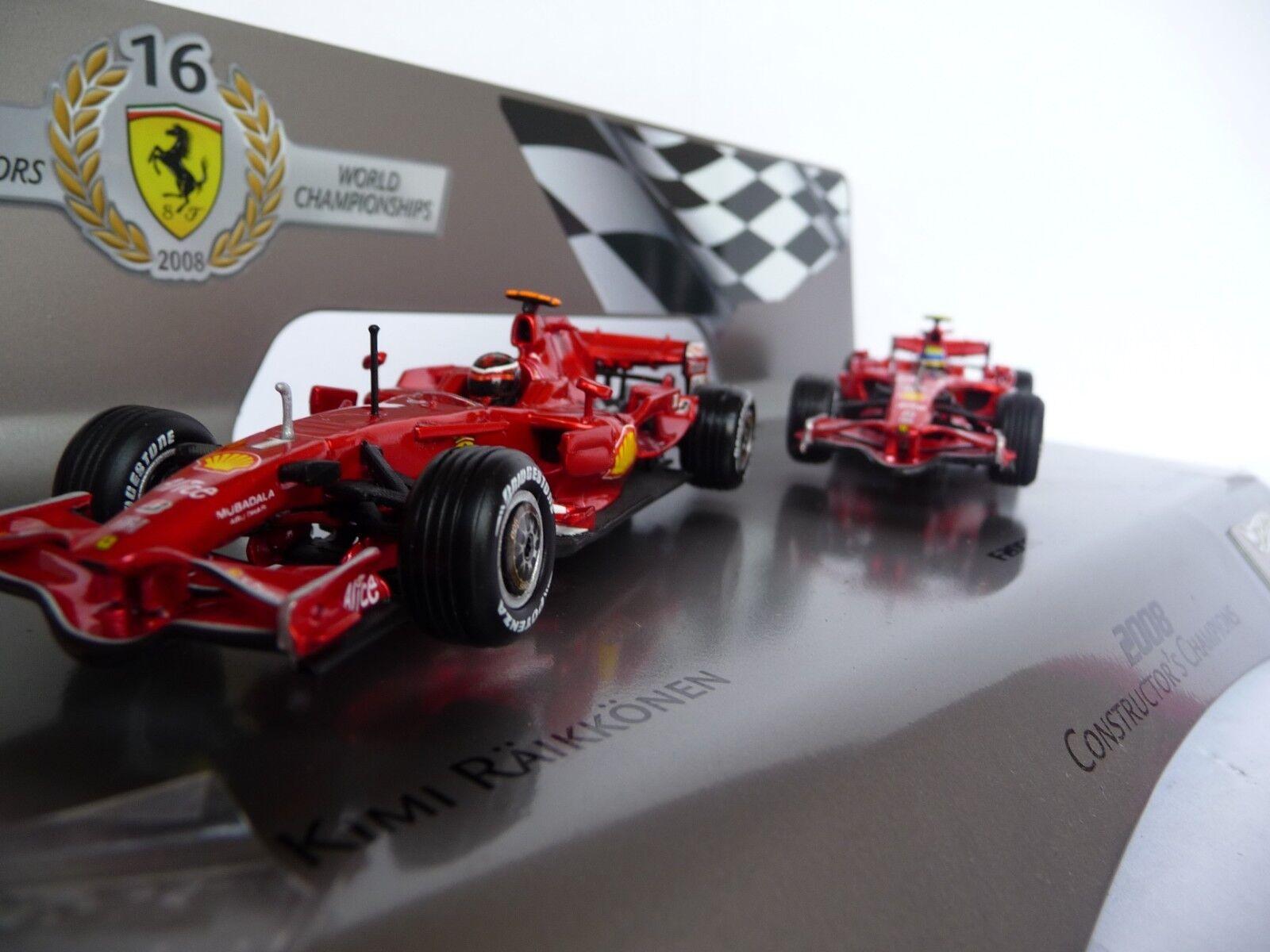 Hot Wheels 1 43 Ferrari F2008 F1 Constructors Räikkönen et Massa L8784