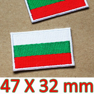 BULGARIA FLAG embroidered iron-on PATCH BULGARIAN NATIONAL EMBLEM applique SOFIA