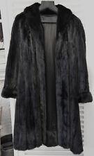 Manteau de vison Dark pleine peau