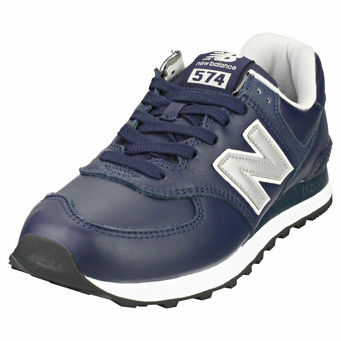 New Balance 574 Mens Navy Silver Casual Trainers - 8 UK