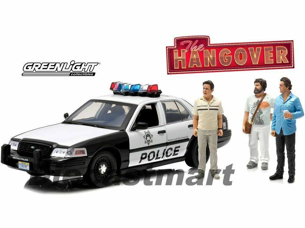 1:18 verdelight Ford Crown Victoria Police Car Interceptor: Hangover + Figure