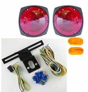 s l300 cl$ 12v towing trailer tail light brake turn signal kit w wiring Car Blinker Lights at crackthecode.co