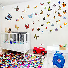 80 Pcs Colorful Butterfly Wall Stickers Decal Art Vinyl Decor Home Removable