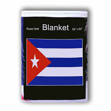 "CUBA  FLAG FLEECE THROW BLANKET   50"" x 60""  - NEW LOWER PRICE"