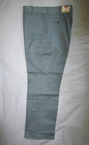 Mens 70s Vintage Farah Envoy Stripe Blue Gray 34x2