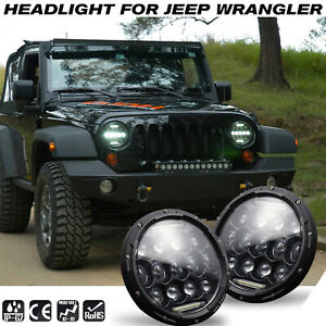 2-Pcs-300W-LED-Headlights-For-Land-Rover-Defender-7-034-inch-Hi-Lo-Beam-DRL