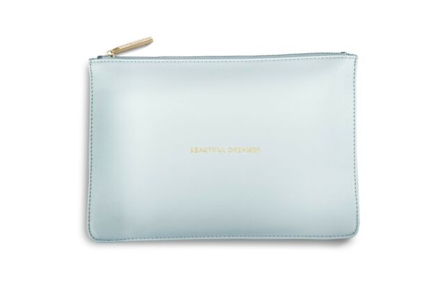 Katie Loxton BEAUTIFUL DREAMER Perfect Pouch Clutch Bag - Powder Blue + Gift Bag
