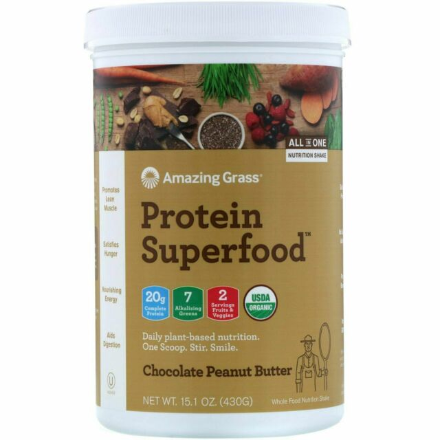Protein Superfood, Chocolate Peanut Butter, 15.1 oz (430 g) Exp 10/2020