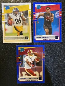 2020-Donruss-Football-Rated-Rookie-Press-Proof-Blue-Lot-Of-3
