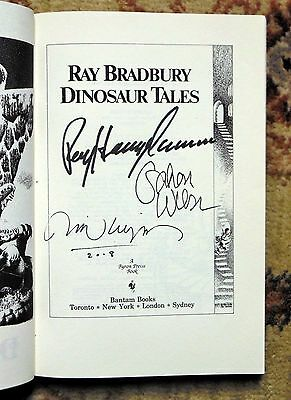 DINOSAUR TALES  RAY BRADBURY BOOK  SIGNED RAY HARRYHAUSEN