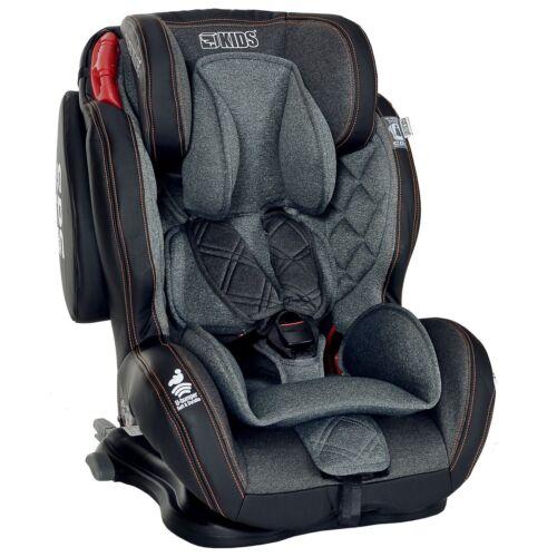 Auto-Kindersitz GT Isofix 9-36 kg Gruppe 1 2 3  Schwarz Grau mit Schlafposition