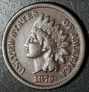 1879-INDIAN-HEAD-CENT-With-LIBERTY-VF-VERY-FINE