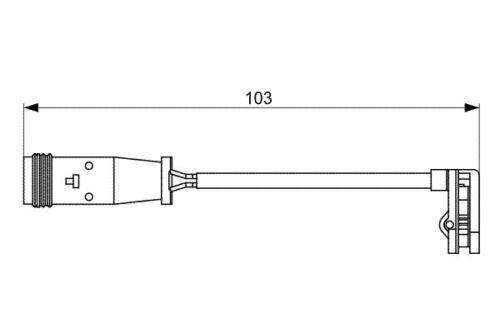 W639 Sensor de desgaste de la Almohadilla de freno delantero Para Mercedes-Benz Viano