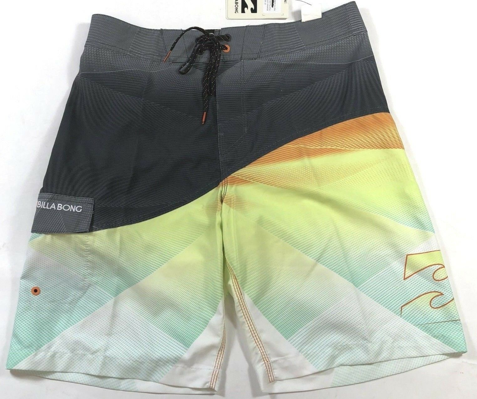 Billabong PULSE Mens 100% Polyester  Boardshorts 32 orange NEW