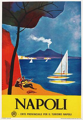 TV87 Vintage 1960's Napoli Naples Italian Italy Travel Tourism Poster Print A4
