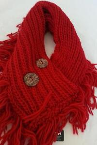 NEW-Burgundy-Infinity-Collar-Scarf-Wool-blend-knitted-Warm-Classic-amp-Classy