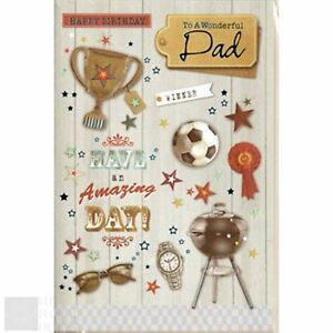 Image Is Loading Happy Birthday Greeting Card To A Wonderful Dad