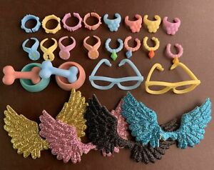Random 11 Lot Accessories For LPS Bone Necklace Wing Computer Who Love LPS Rare