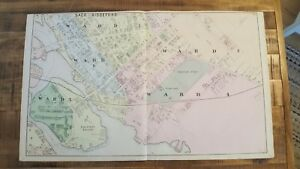 Antique Map Saco Biddeford 5 Maine Atlas York County Me