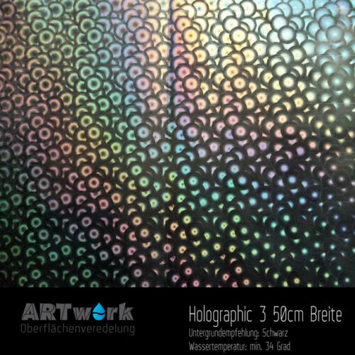 Wassertransferdruck Folie WTD Hydrographic ART holographic 3 1m x 50cm Breite