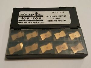 HORIZON Carbide Grooving Insert Top Notch HTN iM041007 01 323FG 214572 (10pcs)