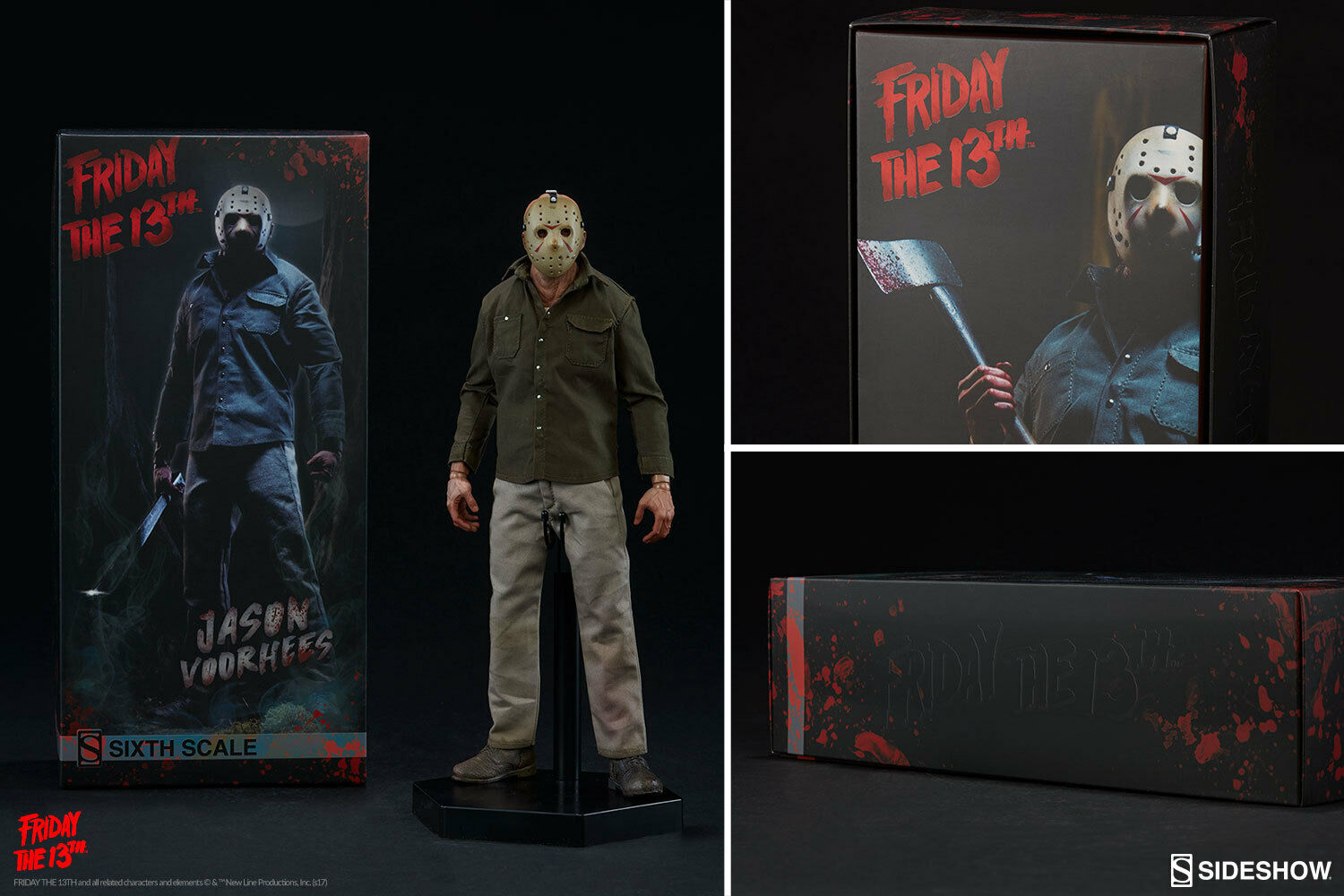 Sideshow Friday the 13th PART 3 JASON VOORHEES 1 6 scale Figure   100360 NEW