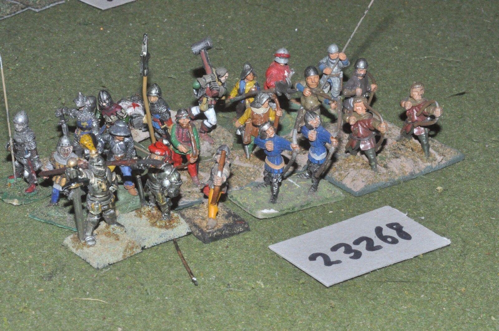 25mm medieval   english - battle grou[ 21 figures - inf (23268)