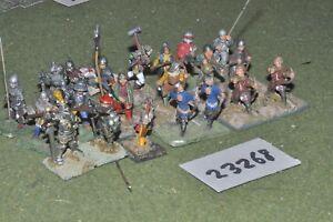 25mm Médiéval / Anglais - Battle Grou 21 Figures Inf (23268)