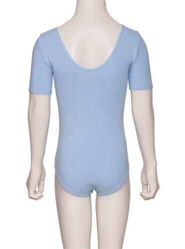 All Colours Girls Cotton Short Sleeved Ballet Dance Leotard KDC037 By Katz