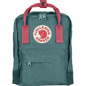 23500f6b2d52 Fjallraven Versatile Kanken Mini Backpack Waterproof F23561 Frost Green  Peach Pink
