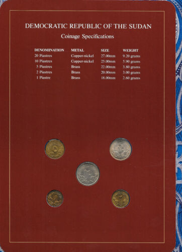 Coin Sets of All Nations South Sudan UNC 1983 20,10,2,1 Ghirsh 5 Ghirsh KM#110.4