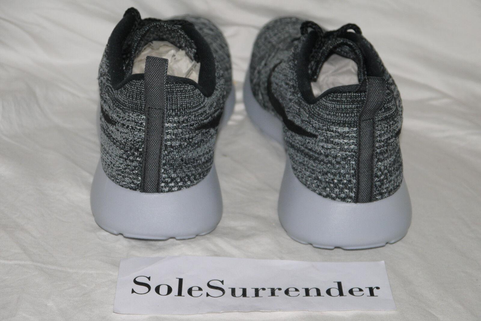 Women's Nike Roshe One Flyknit - CHOOSE SIZE- 704927-007 Rosherun Rosherun Rosherun Run Grey Black e56db8