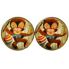 Antique Vintage Dexterity Puzzle Germany DRGM Post Tin Monkey Bananas Mirror