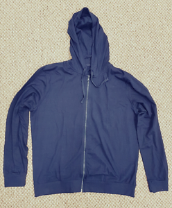 Homme Taille L Lounge Zip Veste à capuche bleu marine zippé Chill Pull Cardigan