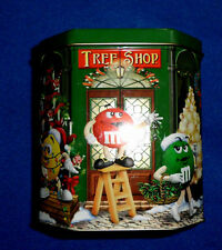M&M's 2000 Christmas candy tin tree shop #11  in series LE