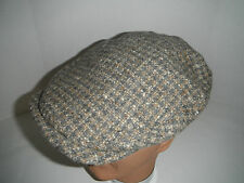 CHRISTYS of LONDON wool blend TWEED longshoreman ivy driving Cap Hat New MEDIUM