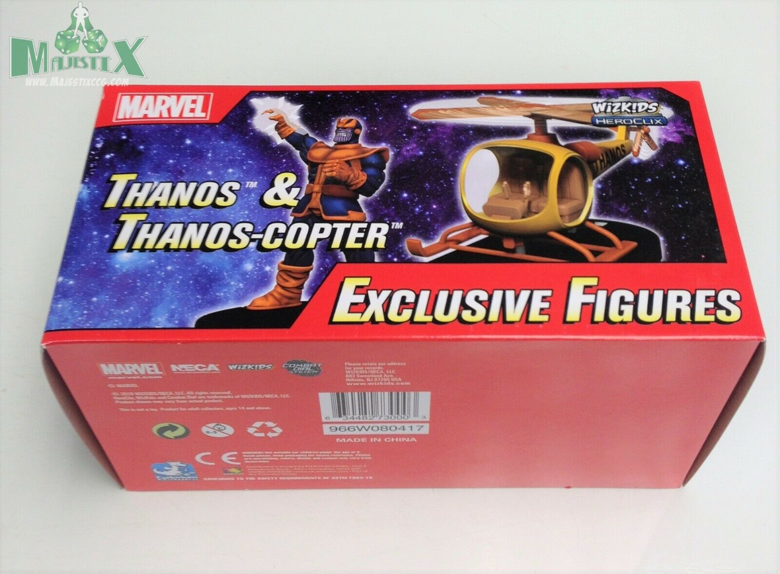Heroclix 2018 Convention Exclusive Thanos & Thanos-Copter  MP18-002 boxed set