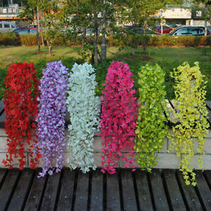 Hanging artificial silk wisteria fake garden flowers plants vines image is loading hanging artificial silk wisteria fake garden flowers plants mightylinksfo