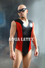V-neck Unitard Sexy Rubber Latex Catsuit Swimsuit Bodysuit Gummi Jumpsuit