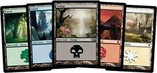 Auction 100 MTG Basic Land Magic Collection 20x Plains Island Swamp Forest MTN
