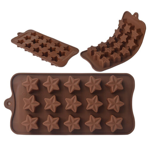 Silicone Star Shaped Mould Ice Candy Chocolate Cake Mold Baking Tool Fashion