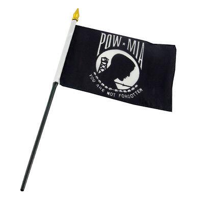 "12x18 12/""x18/"" Wholesale Lot of 12 Pow Mia POWMIA Stick Flag wood staff"