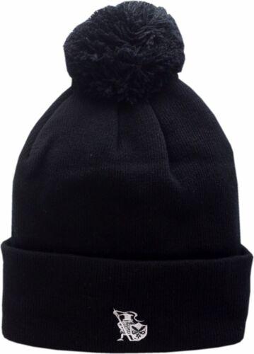 Chicago Cuffed Pom Knit Hat Black 13527