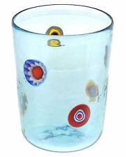 Bicchiere Goto Veneziano Murrine Millefiori Azzurro Murano Glasses Made in Italy